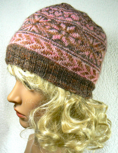 Catriona Fair Isle Hat Kit In Bfl 4 Ply
